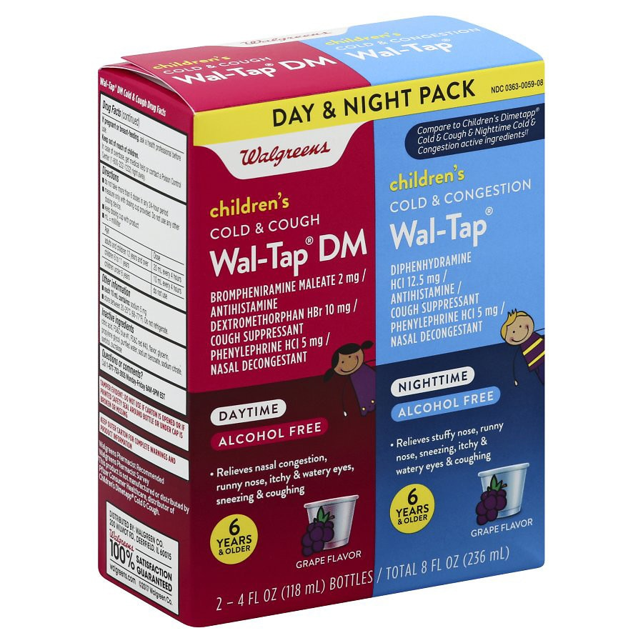 Walgreens Wal Tap Elixir Children S Day Night Grape