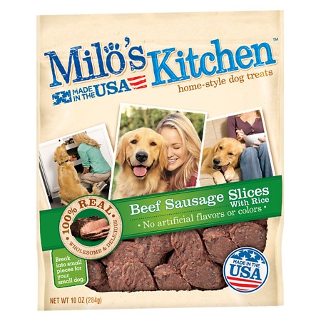 Milo's Kitchen Beef Sausage Slices With Rice - 10 oz.