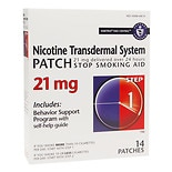 Habitrol Nicotine Transdermal System Stop Smoking Aid Patch, 21 mg Step 1