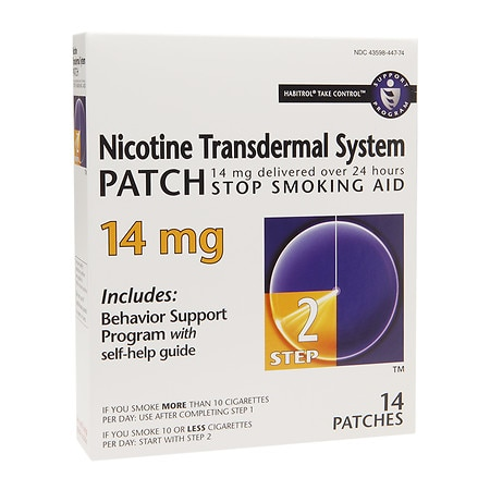 Habitrol Nicotine Transdermal System Stop Smoking Aid Patch, 14 mg Step 2 - 14 ea