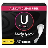 U by Kotex Barely There Pantiliners Unscented, Thin