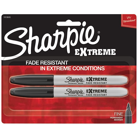 Sharpie Extra Strength Marker Black - 2 ea
