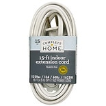Living Solutions Indoor Extension Cord 15ft White
