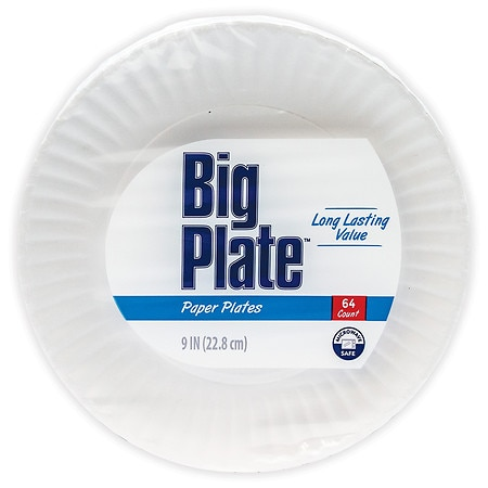Smile & Save Paper Plates 9in - 64 ea