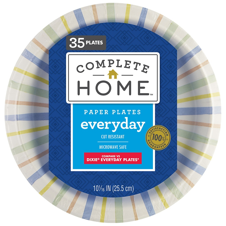 Product Large Image  sc 1 st  Walgreens & Nice! Everyday Paper Plates 10 1/16in 10 1/16in | Walgreens