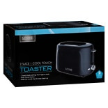 Living Solutions Cooltouch 2 Slice Toaster Black