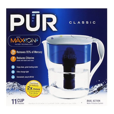 pur water filter pitcher classic 11 cup