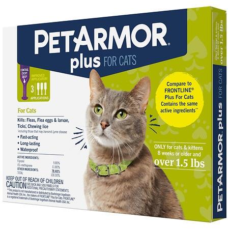 PetArmor Plus Flea and Tick Control for Cats Over 1.5 lb - 3.0 ea