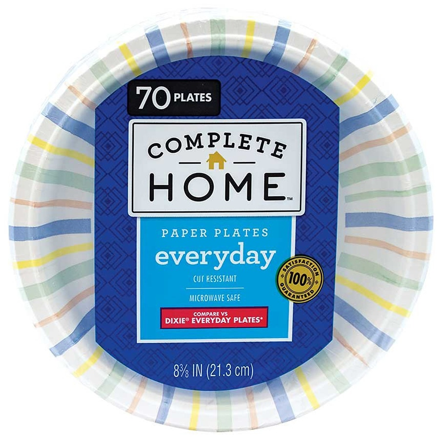 Product Large Image  sc 1 st  Walgreens & Nice! Everyday Paper Plates 8 5/8in 8 5/8in | Walgreens