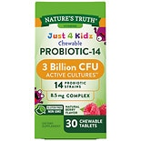 Nature's Truth Probio Kids Chewable 3 Billion 30 Tabs Natural Berry