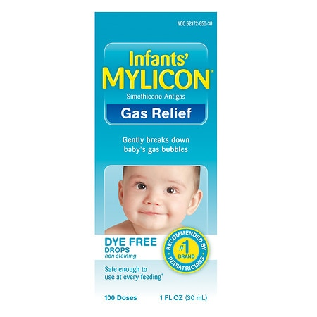 Mylicon Infant Gas Relief Drops Dye Free Formula - 1 oz.