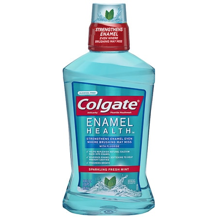 Colgate Enamel Health Anticavity Fluoride Mouthwash Sparkling Fresh Mint - 16.9 oz.