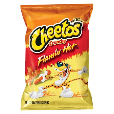 Cheetos Crunchy Cheese Snack Flamin Hot - 3.5 oz.