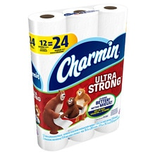 12 Pk. Charmin Ultra Strong Toilet Paper Double Rolls