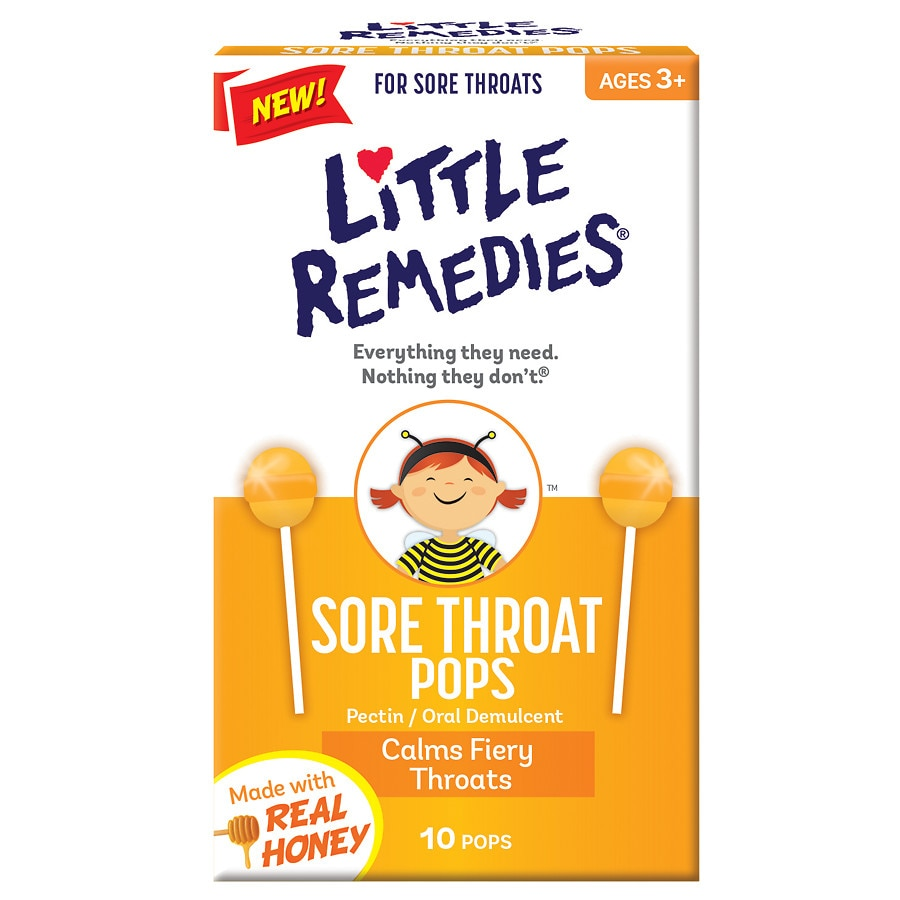 little remedies sore throat pops real honey | walgreens