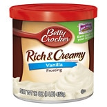 Betty Crocker Creamy Deluxe Frosting Vanilla