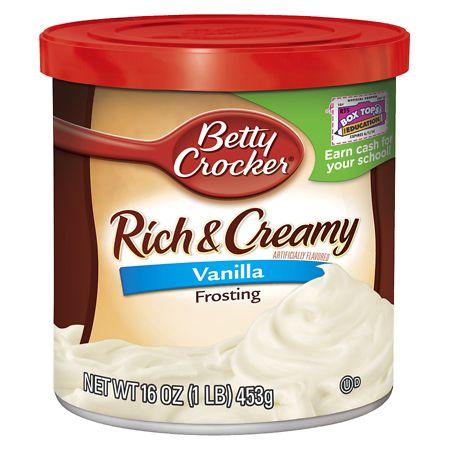 Betty Crocker Creamy Deluxe Frosting Vanilla - 16 oz.
