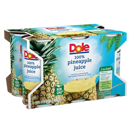 Dole Juice Pineapple - 6 oz. x 6 pack