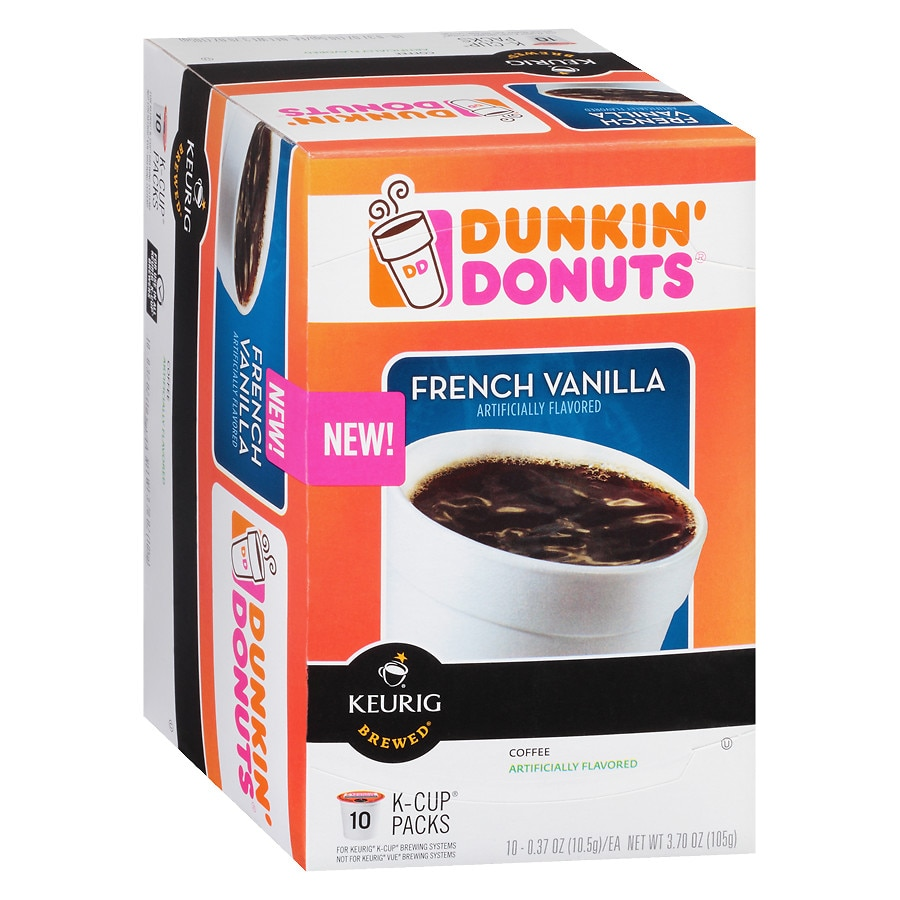 7e841bf0211 Dunkin' Donuts Coffee K-Cups French Vanilla0.37 oz x 10 pack