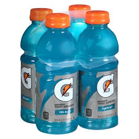 Gatorade Thirst Quencher Beverage Cool Blue - 20 oz. x 4 pack