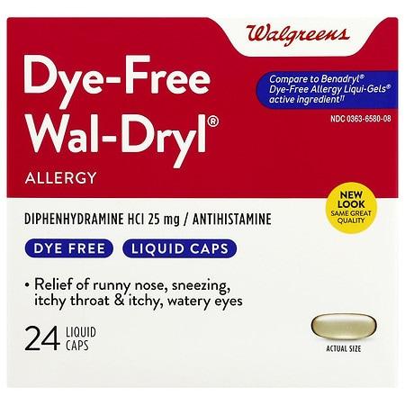 Walgreens Wal-Dryl Dye Free Liquigels - 24