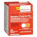 Walgreens Plus Effervescent Cold/ Flu Citrus