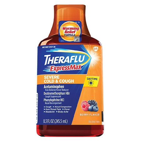 TheraFlu Daytime Severe Cold/Cough Berry - 8.3 oz.