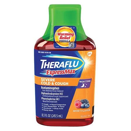 Theraflu Expressmax Nighttime Severe Cold Cough Berry