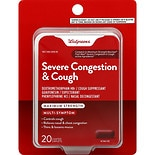 Walgreens Mucus Relief Severe Congestion/ Cough Caps