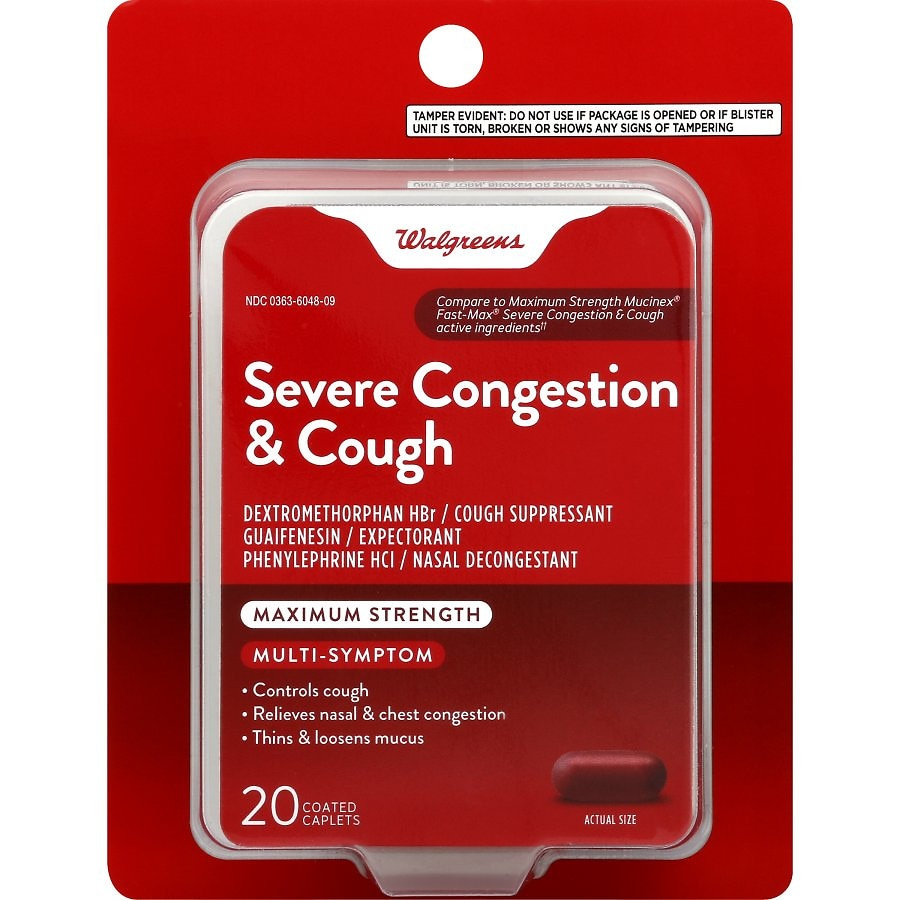 Walgreens Mucus Relief Severe Congestion/Cough Caps | Walgreens
