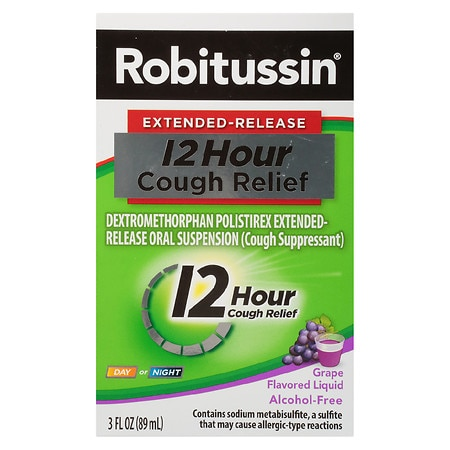 Robitussin 12 Hour Cough Grape - 3 oz.