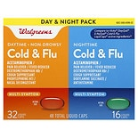Walgreens Cold & Flu Day & Night Liquid Caps