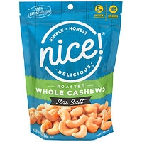 Deals on 2-Pack Nice! Roasted Whole Cashews with Sea Salt 16-Oz