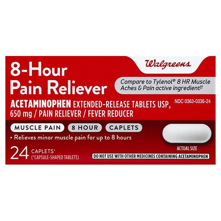 Walgreens 8 Hour Pain Reliever Caplets - 100 ea