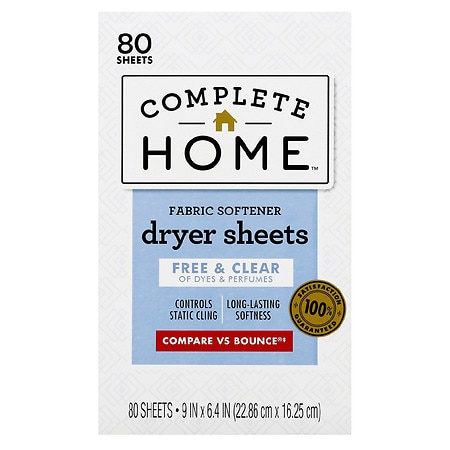 All Free And Clear Dryer Sheets Natural