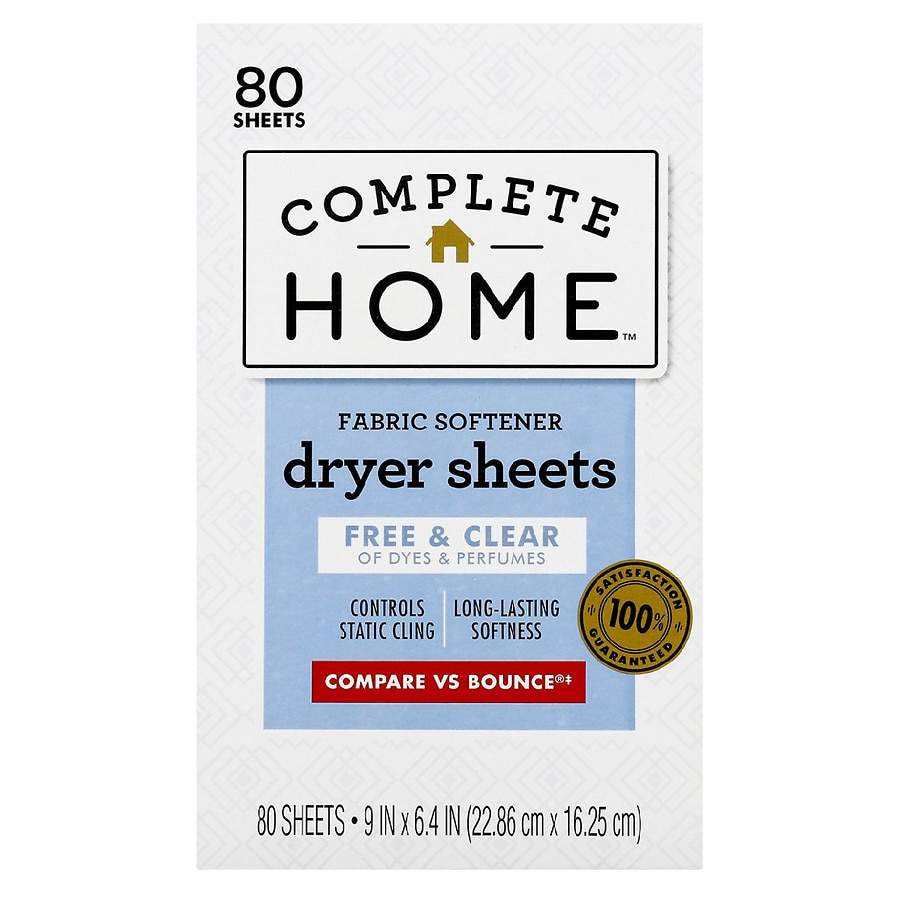 Nice! Fabric Softener Dryer Sheets Free & Clear