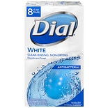 Dial Antibacterial Deodorant Soap Bars Clean and Fresh White