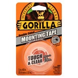 Gorilla Tough & Clear Mounting Tape 60 Inch