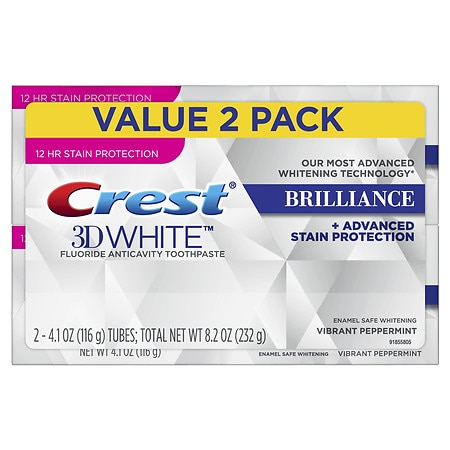 Image of Crest 3D White Brilliance Toothpaste Vibrant Peppermint - 4.1 oz.