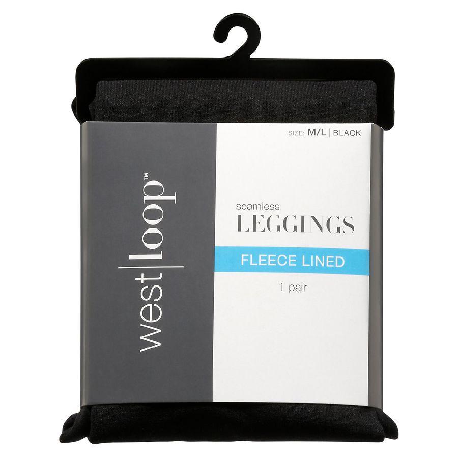 2d692df6b4a88 West Loop Fleece Leggings M/L Black | Walgreens
