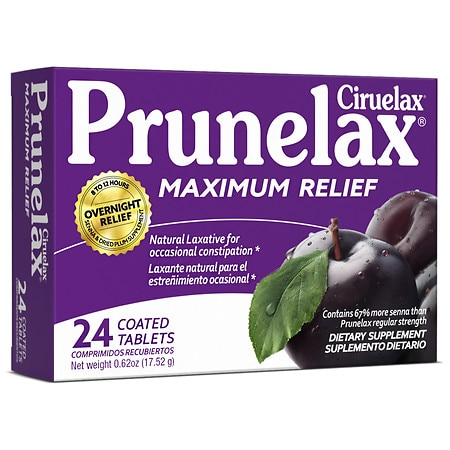 Prunelax Laxative Tablets Maximum Relief - 24 ea