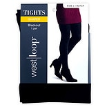 West Loop Blackout Opaque Tights L Black