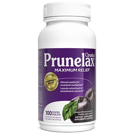 Prunelax Ciruelax Maximum Relief Coated Tablets - 100 ea