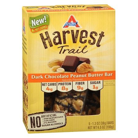 Image of Atkins Harvest Trail Bars Dark Chocolate Peanut Butter - 1.3 oz.
