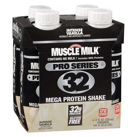 Muscle Milk Pro Series Mega Protein Shake Vanilla - 11 oz. x 4 pack