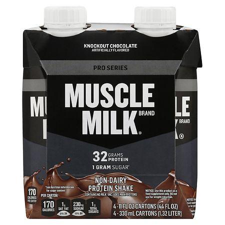 Muscle Milk Pro Series Mega Protein Shake Chocolate - 11 oz. x 4 pack