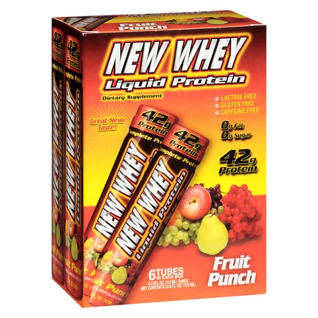 New Whey Liquid Protein Fruit Punch - 3.8 oz. x 6 pack
