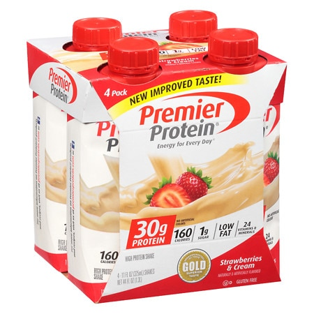Premier Protein Shakes Strawberries & Cream - 11 oz. x 4 pack