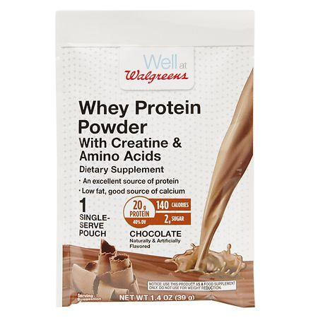 Walgreens Whey Protein With Creatine & Amino Acids Chocolate - 1.4 oz.