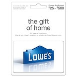 Lowe's Variable Gift Card